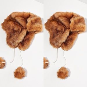 Urban Outfitters Fuzzy Faux Fur Trapper Hat